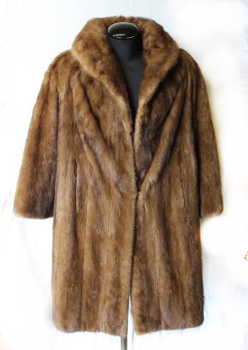 MINK Women's Designer Full Length Mink Coat - Size L