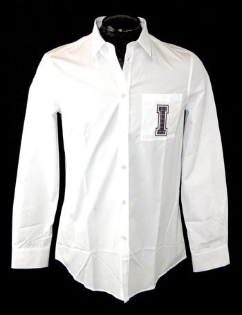 ICEBERG Men's Italian Designer Long Sleeve Shirt - Size S - Retail $495.00
