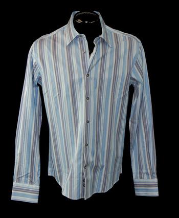 VERSACE Men's Designer Long Sleeve Shirt - Tag Size 48 M/L - Retail $525.00