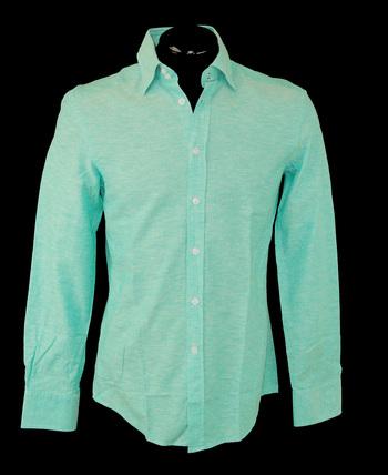VERSACE Men's Designer Long Sleeve Shirt - Tag Size 38 M - Retail $395.00
