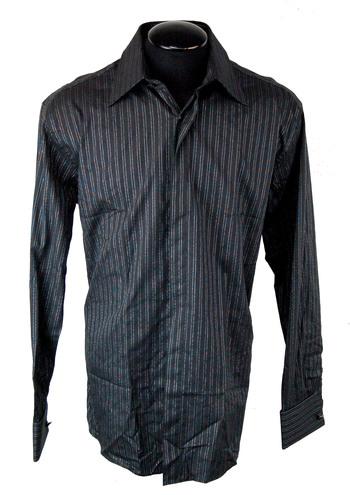 VERSACE Men's Designer Long Sleeve Shirt - Tag Size 38 M - Retail $525.00