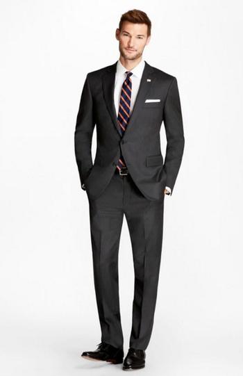 Men's Designer Super 110s Two Piece Suit - Size 42L/34 - $999.00 Retail Value