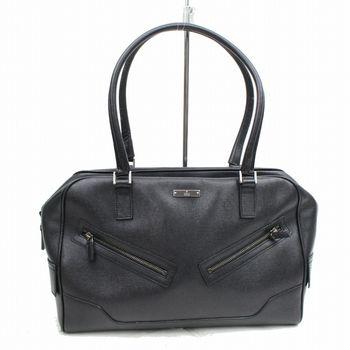 Gucci Esecutiva Handbag  Shoulder Bag Black Leather