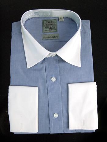 "Men's Designer Bespoke Cotton Dress Shirt - Size XXXL/17 1/2"" - $125.00 Retail"