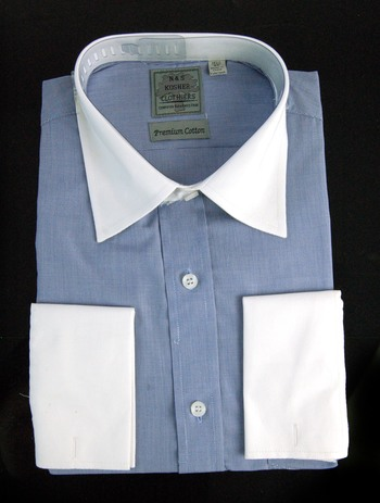 "Men's Designer Bespoke Cotton Dress Shirt - Size XS/14 1/2"" - $125.00 Retail"