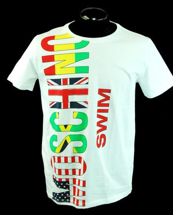 MOSCHINO Men's Italian Designer Graphics T-Shirt - Size XL - Retail $275.00