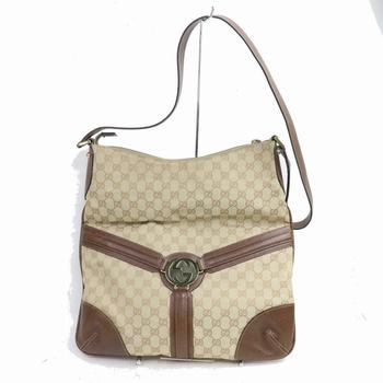 GUCCI Shoulder Handbag GG Canvas Leather Brown $2599