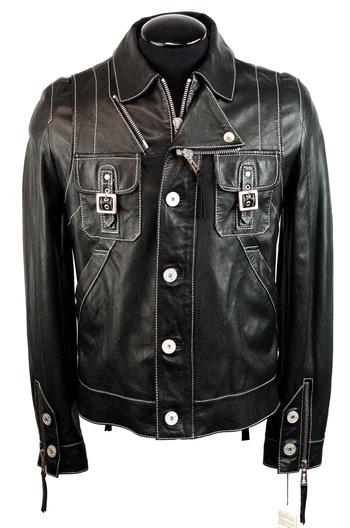 FRANKIE MORELLO MILAN Men's Leather Jacket- Size 48EU (38 US) M - Retail $2500.00
