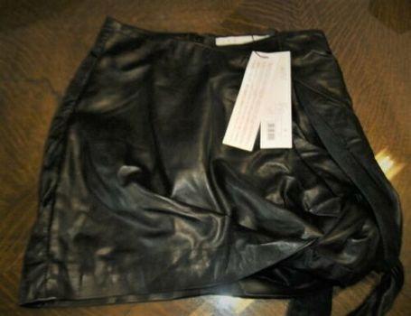 IRO PARIS Leather Skirt CAVANY Sz 36 (Small to Medium) Retail $850.00