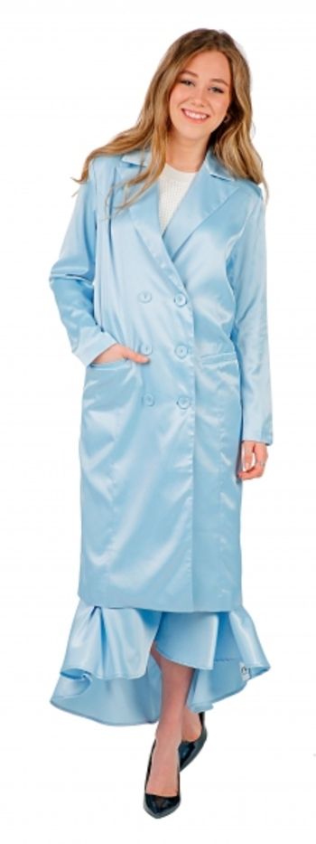Hilary MacMillan Blue Trench, Size: Small, Retail: $240.00 CAD