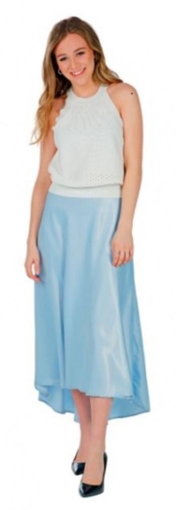 Hilary MacMillan Blue Midi Skirt, Size: 4, Retail: $180.00 CAD