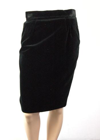 Women's Italian Designer GONNA VELLUTO Skirt - Size 42 EU - Retail $275.00