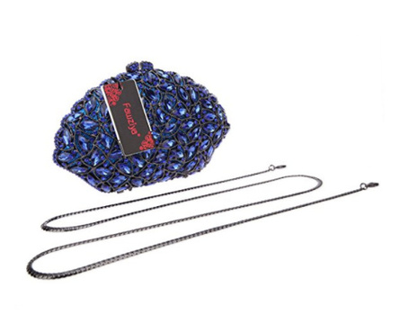 NWT Fawziya Crystal Clutch Purse Retail Price $398.00 CRUSTALS