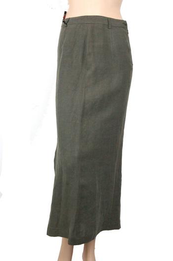 VITTORIO FORTI Designer Women's Linen skirt - Size 44 - Retail $195.00