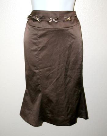 New Roberto Cavalli Brown Skirt Size 44/M - Retail $149.99