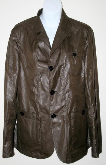 Emporio Armani Designer Women's Brown Jacket/Shirt - Retail $449.99 Size 46 Italian (M/L USA)