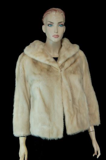 Champagne Color Mink Jacket - Size M - $3000.00 Cold Storage Value
