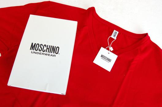 MOSCHINO -Underwear - Men's Italian Designer V Neck T Shirt  - Size XL - Retail $195.00