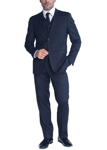 Men's Designer Braveman 3 Piece Suit - Size 36S/30 - Retail $149.00