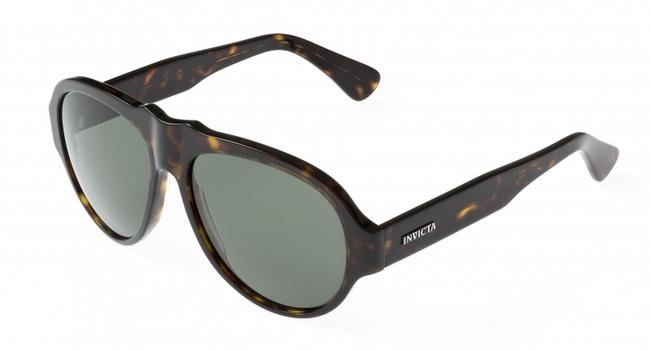New Invicta Brown/Green Vintage London Dusk Sunglasses - Retail $395.00