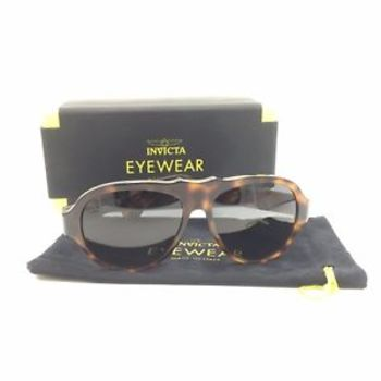 MADE IN ITALY New Invicta Brown Tortoise Vintage London Dusk Sunglasses - Retail $395.00
