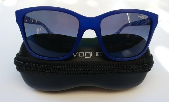 Vogue Blue Square Sunglasses