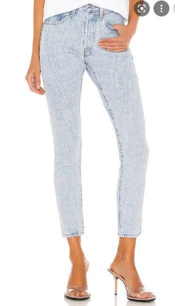 LEVI's women's 501 Skinny Jeans - Thunder and Lightning - Size 27/20