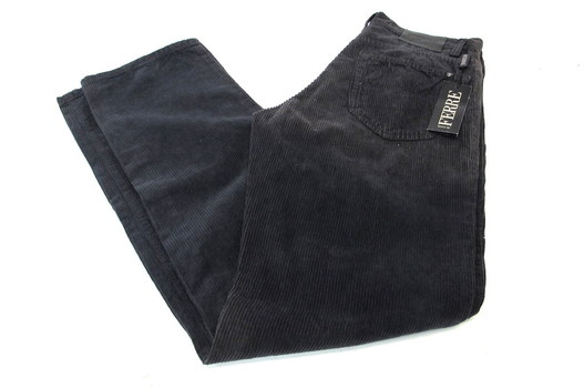 NEW Men's Designer GF FERRE Corduroy Jeans - Size 32/46 - $300.00 Retail
