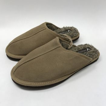 American Eagle Leather Slippers Beige Size 10