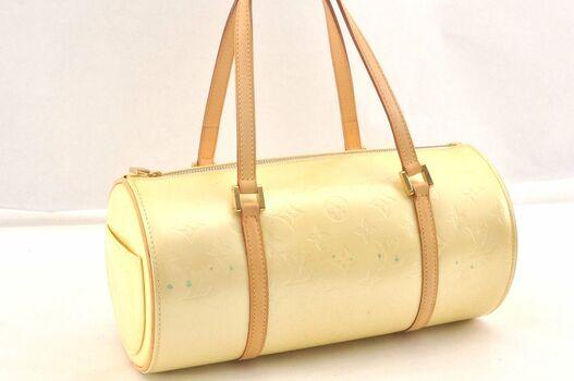 Louis Vuitton Bedford Hand Bag Monogram Vernis Canary Handbag