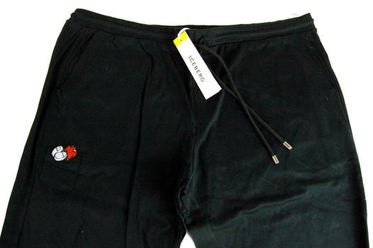 ICEBERG Men's Italian Designer Cotton Pants - MICKEY MOUSE COLLECTION - Tag Size 3XL - $395.00 Retail
