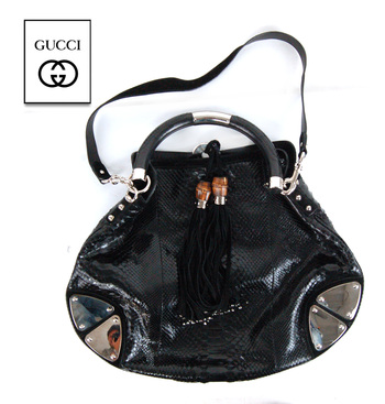 GUCCI Cross Body Hobo Indy Bamboo Bag Value $2,500.00