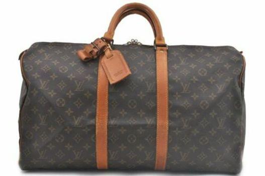 Louis Vuitton Monogram Keepall 50 Boston Handbag MSRP $2899