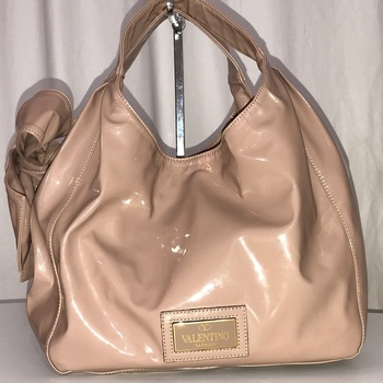 Valentino Patent Leather Bow Hobo Bag MSRP: $2,000.00