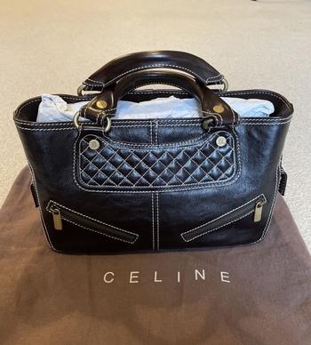 Celine Black Calfskin Handbag/Purse