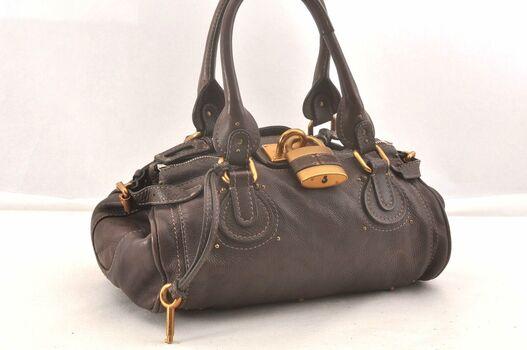 Chloe Paddington Leather HandBag Black