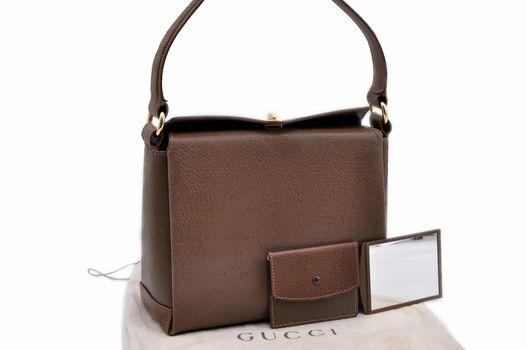 GUCCI Bellissima HandBag Leather Brown MSRP $3100
