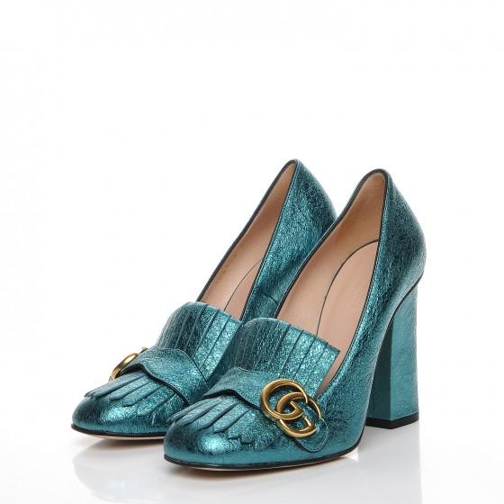cabb26f9e GUCCI Shoes Metallic Calfskin Sienna Miller Retail $870.00 ...