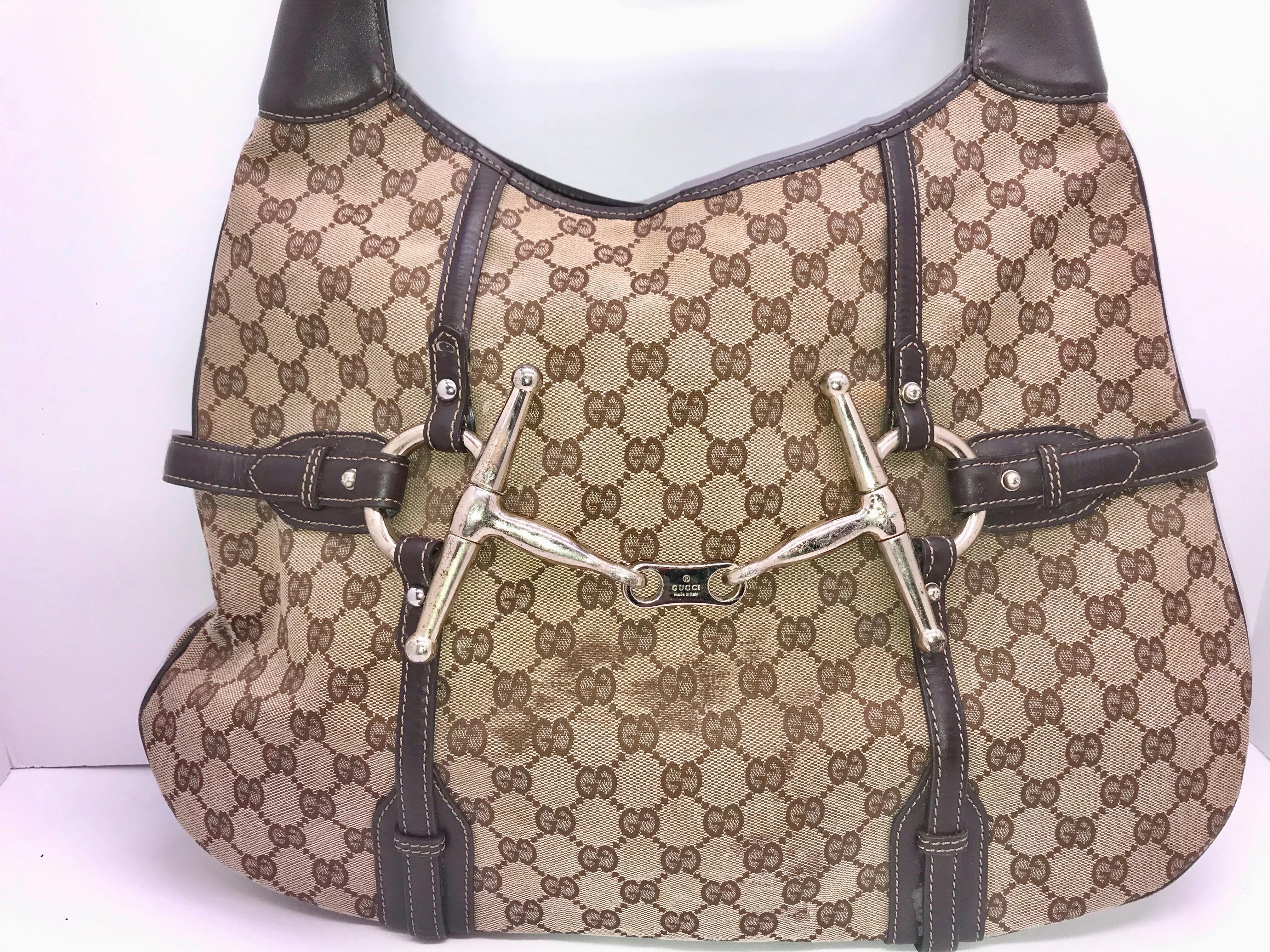 064c586bac5 Gucci Horsebit Hobo 85th Anniversary Special Edition Handbag Purse ...