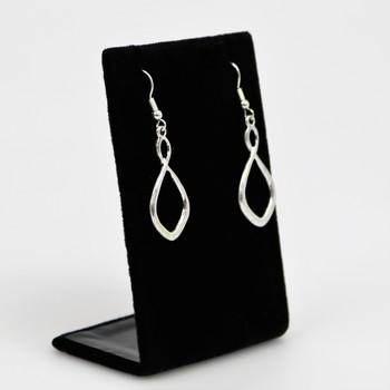 Silver Tone Infinity Dangle Earrings