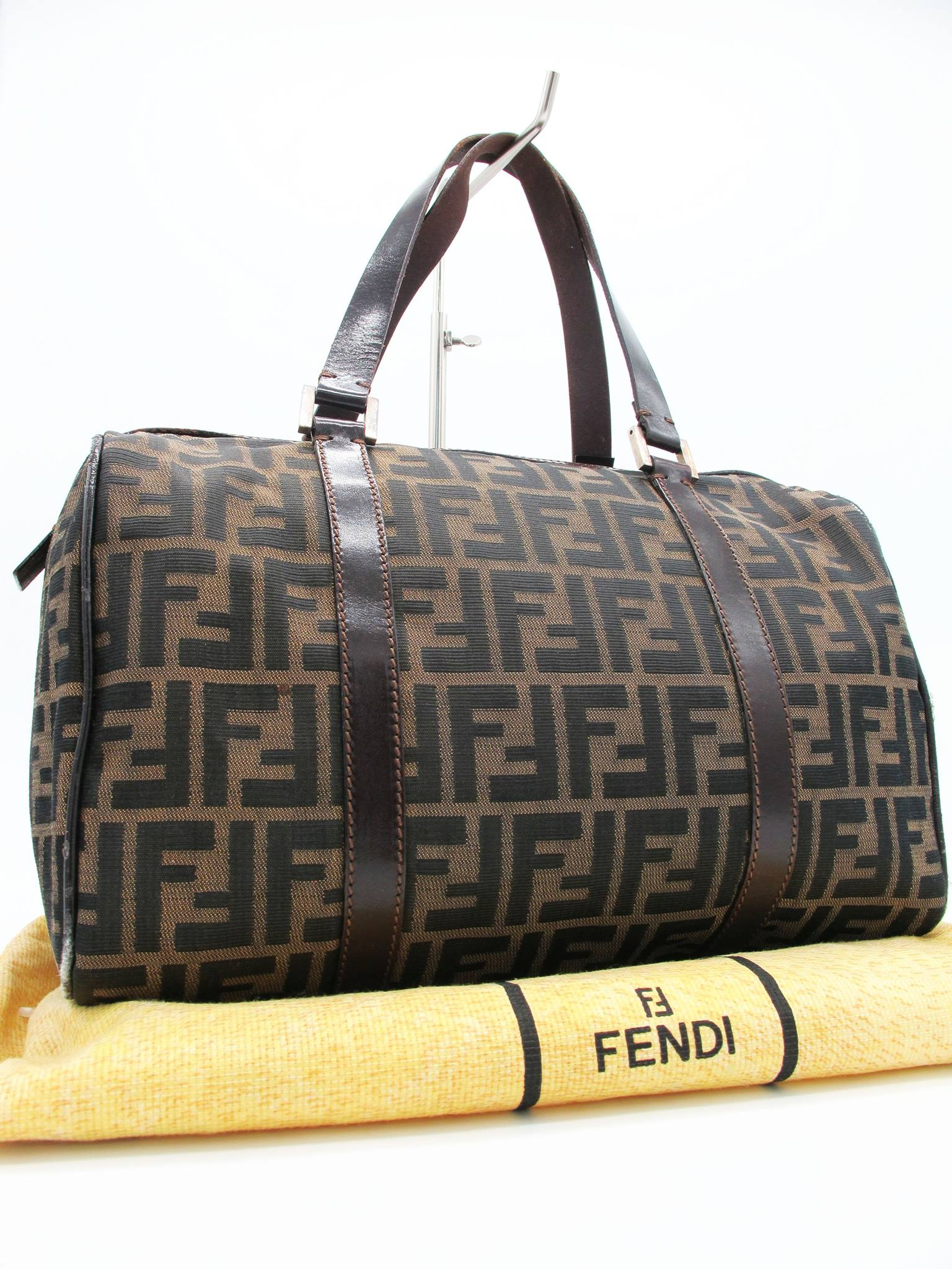 Fendi Monogram Boston Bag