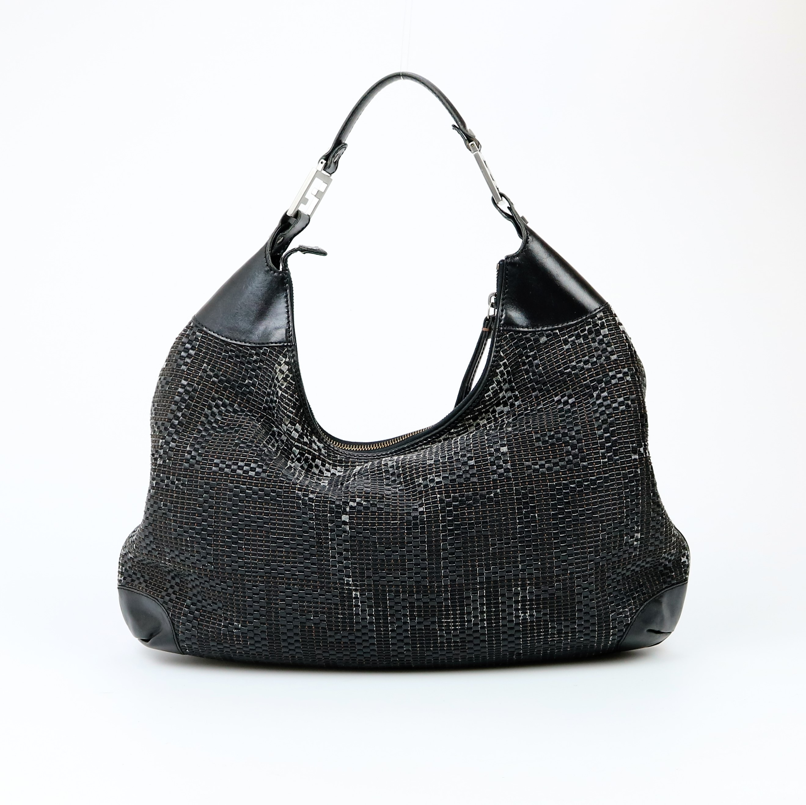 337a05869b3 ... spain fendi zucca woven leather hobo bag 804af 0df26 ...