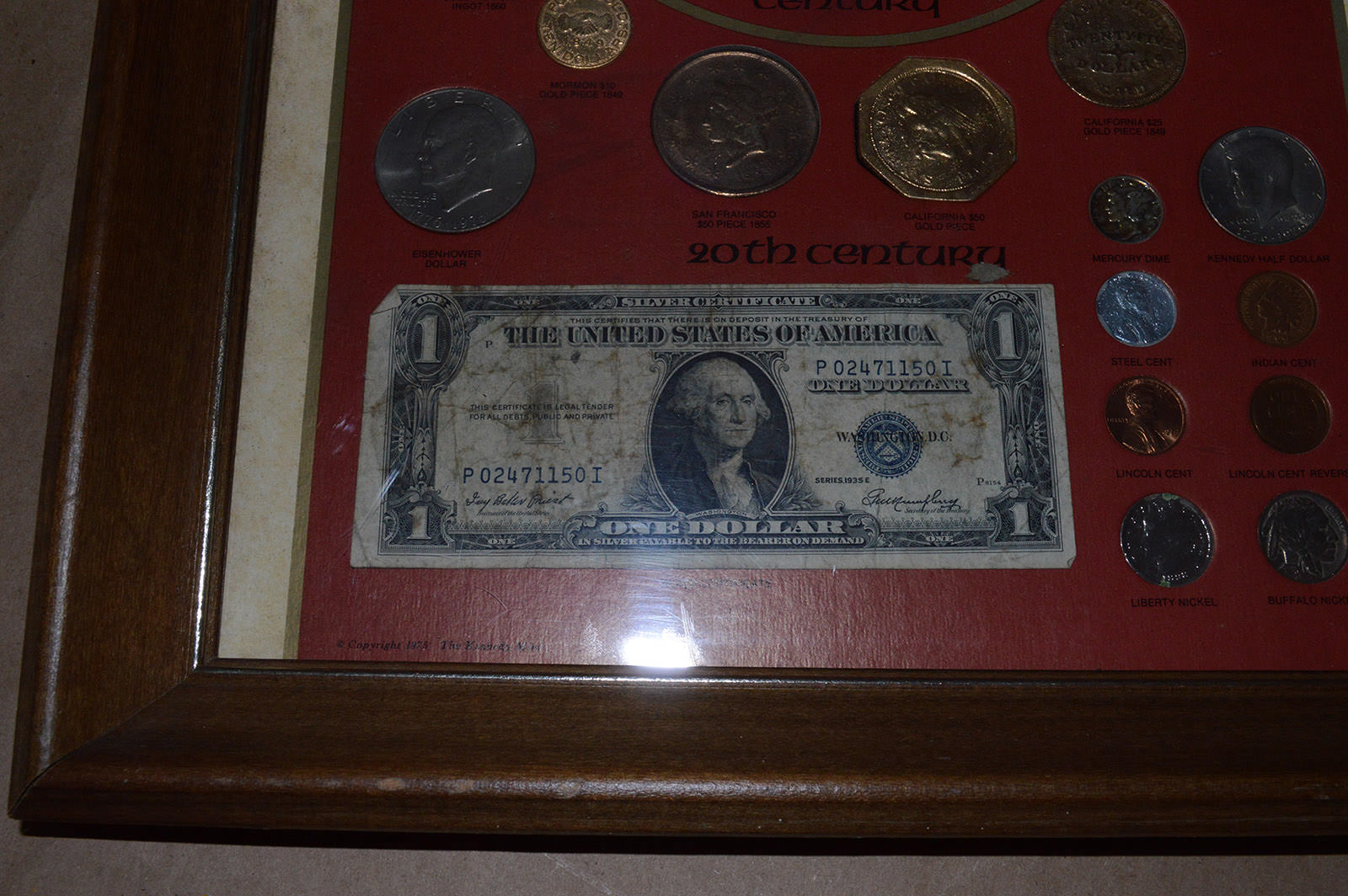 Framed Bicentennial Collection 18th 19th Amp 20th Century U S Coins Property Room