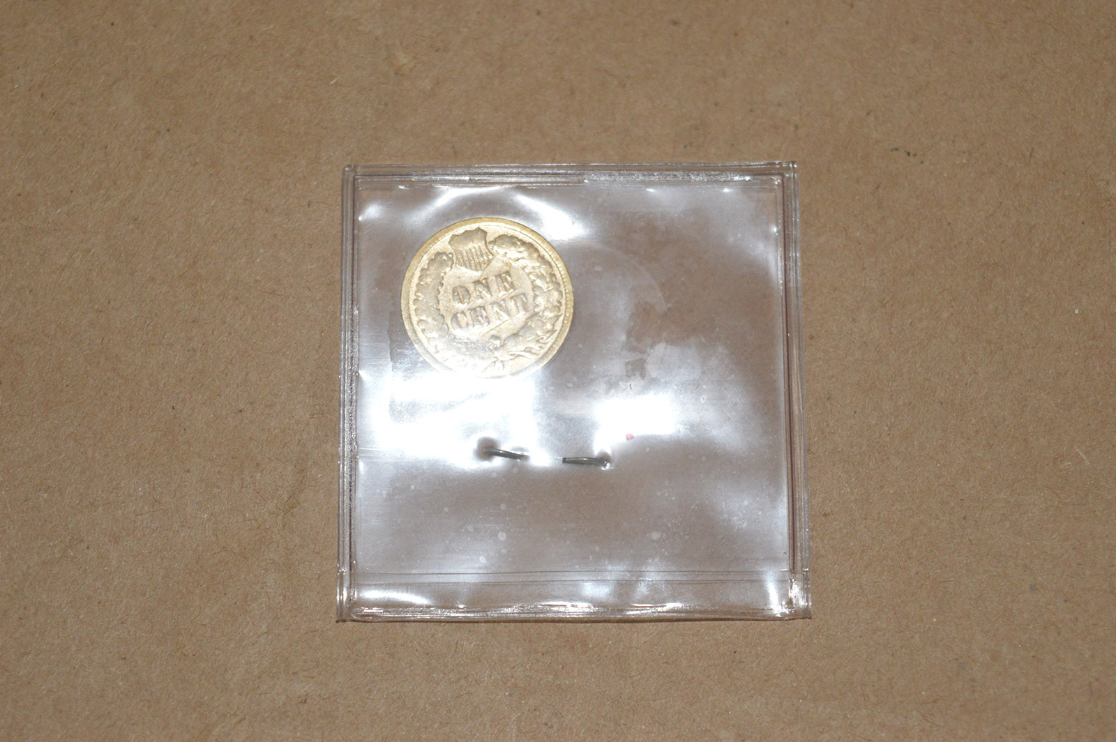 Gold Colored 1882 Indian Head Penny   Property Room