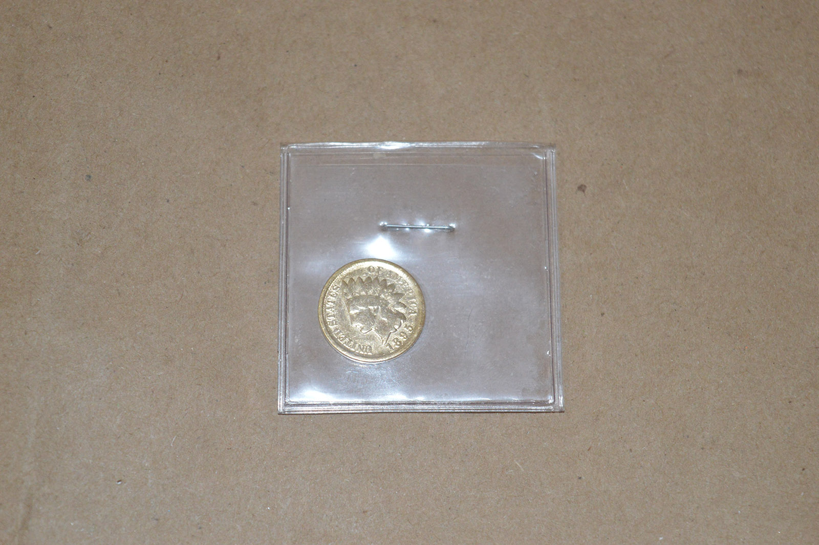 Gold Colored 1895 Indian Head Penny   Property Room
