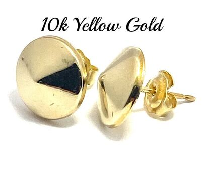 10k Real Yellow Gold (Not Plated) Stud Earrings