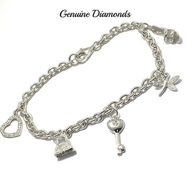 0.05ctw Genuine Diamond Bracelet