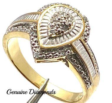0.10ctw Genuine Diamond Ring Size 9