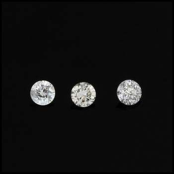 0.12ctw I1-I2, I Lot of Matching Natural Loose Diamonds Round Brilliant Cut