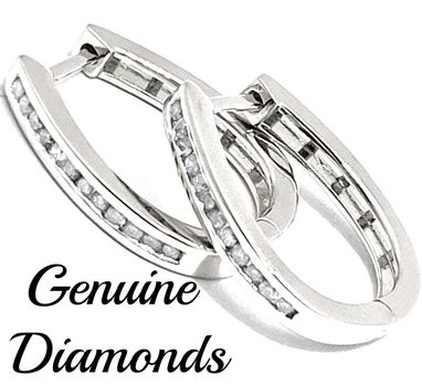 0.25ctw Genuine Diamond Solid .925 Sterling Silver Earrings